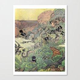 Mu Guai and the Tiger's Eye, Panel 4 Canvas Print