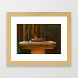 The wreath Framed Art Print