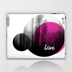 The great love - romantic photography and typography design Laptop & iPad Skin