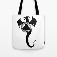 smaug Tote Bags featuring Smaug by Selis Starlight