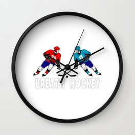 Fighting hockey players Wall Clock