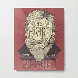 The Beard Metal Print