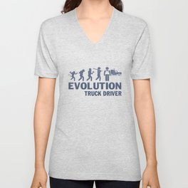 Evolution - Truck Driver Unisex V-Neck