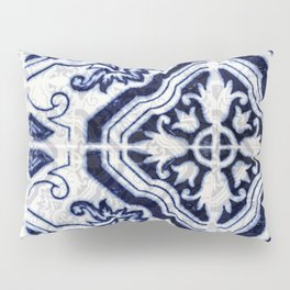 Azulejo VI - Portuguese hand painted tiles Pillow Sham