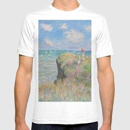 Claude Monet - The Cliff Walk at Pourville.jpg T-shirt