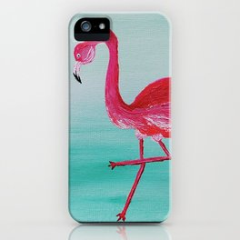 Frank the Flamingo iPhone Case