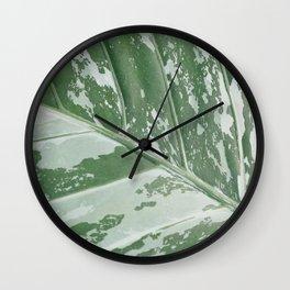 Leafy Abstract Wall Clock