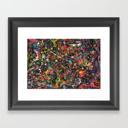 Overstocked Lake Framed Art Print