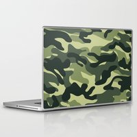 military Laptop & iPad Skins featuring Green Military Camouflage Pattern by SW Creation
