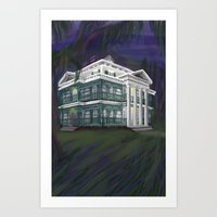 haunted mansion Art Prints featuring The Haunted Mansion by Nissa Taylor
