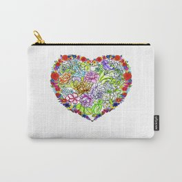 flowers in the heart Carry-All Pouch