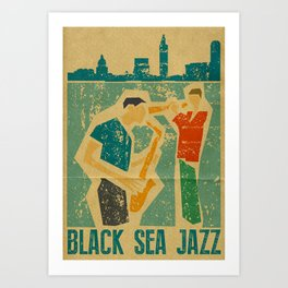 Black Sea Jazz Art Print
