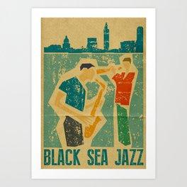 Black Sea Jazz Art Print