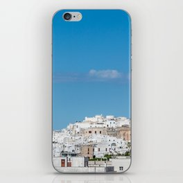 Panoramic view of the medieval white village of Ostuni iPhone Skin