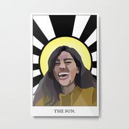 The Sun Tarot Metal Print
