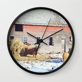 Old McDonald Had a Farm Wall Clock