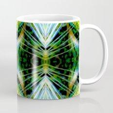 Blue Green Bright Rays,Fractal Art Mug