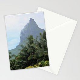 Polynesian Volcano Ruins in Rain Stationery Cards