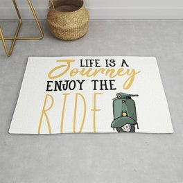 life is a journey enjoy the ride Rug