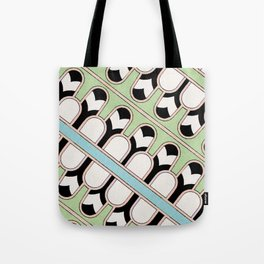 Vintage Mint Green Assyrian Pattern with a hint of Art Deco Tote Bag