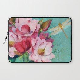 Verdigris Pink Magnolias Laptop Sleeve