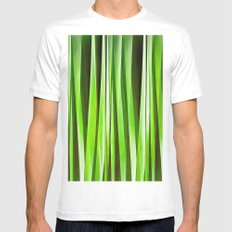 Tropical Green Riverweed MEDIUM Mens Fitted Tee White