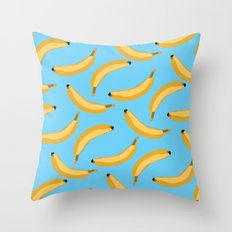 going bananas Throw Pillow