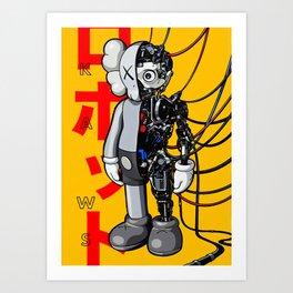 kaws art Art Print