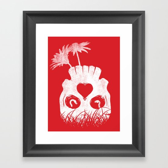 Love is where you find it Framed Art Print