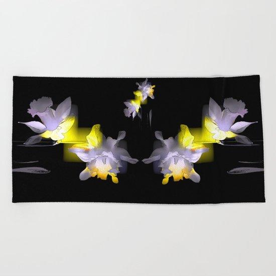 Cubist Daffodils Beach Towel