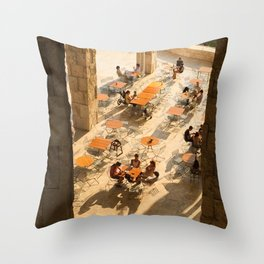 Cafe Societé Throw Pillow