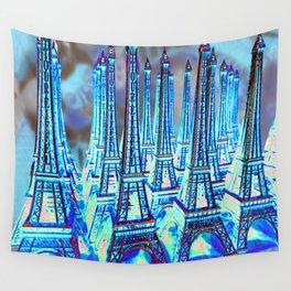 TOUR PARIS PARIS PARIS PARIS Wall Tapestry