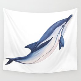 Striped baby dolphin Wall Tapestry