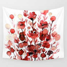 Floral Charm No.1E by Kathy Morton Stanion Wall Tapestry