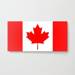Flag of Canada Metal Print