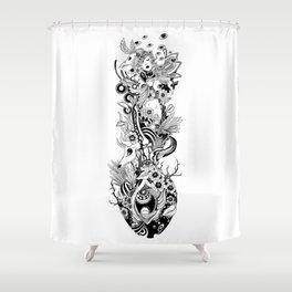Blinking Shower Curtain