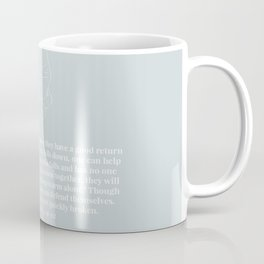 Ecclesiastes 4:9-12 A Cord of Three Strands Is Not Quickly Broken Line Art Sketch Blue Coffee Mug