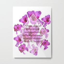 Great Opportunities in Disguise Floral Print-by Hxlxynxchxle Metal Print