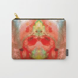 Om - Red Meditation - Abstract Art By Sharon Cummings Carry-All Pouch