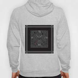 Watch. Black and white pattern . Hoody