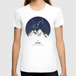 Astrology Scorpio Zodiac Horoscope Constellation Star Sign Watercolor Poster Wall Art T-shirt