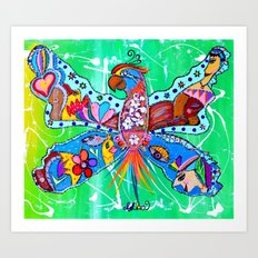 PARROFLY WITH ME! Art Print