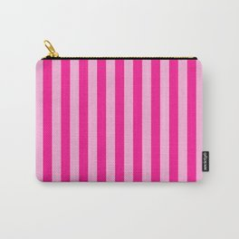 Light Pink & Deep Pink Stripes Carry-All Pouch