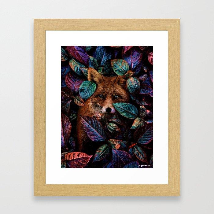 eye contact. Framed Art Print
