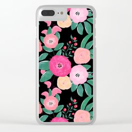 Stylish abstract creative floral paint Clear iPhone Case