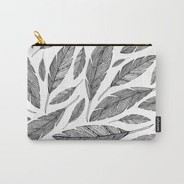 Float Like A Feather - White Carry-All Pouch