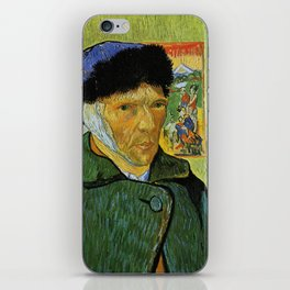 Self Portrait with Bandaged Ear by Vincent van Gogh iPhone Skin