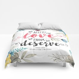 Chbosky - We Accept The Love We Think We Deserve Comforters