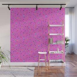 Hand-drawn Dots on Hot Pink, small print Wall Mural
