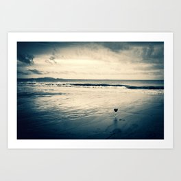 Wine-ding Down at Blacks Beach Art Print